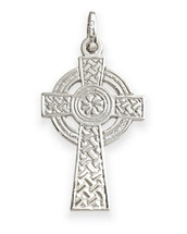 Large Sterling Silver Religious Celtic Cross (32mm x 18mm)