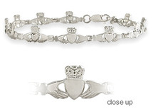 White Gold Claddagh Bracelet
