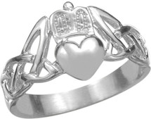 Genuine Sterling Silver Claddagh Knot Ring