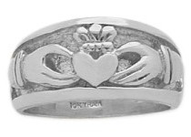 Traditional Genuine Sterling Silver Claddagh Knot Ring