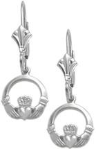 Genuine Sterling Silver Celtic Leverback Earrings