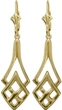 10 Karat Celtic Yellow Gold Earrings