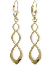 10 Karat Celtic Style Yellow Gold Earrings