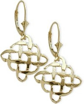 10 Karat Yellow Gold Celtic Knot Earrings