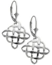 10 Karat White Gold Celtic Knot Earrings