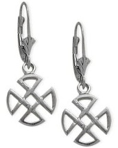 10 Karat White Gold 4 Trinity Earrings