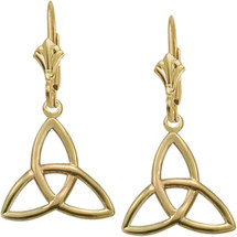 10 Karat Yellow Gold Trinity Knot Celtic Earrings
