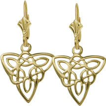 10 Karat Yellow Gold Celtic Style Knot Earrings