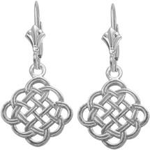 Celtic Genuine Sterling Silver Knot Earrings