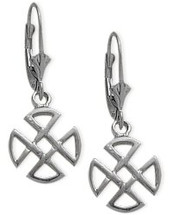 Genuine Sterling Silver Four Trinity Celtic Earrings