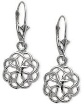 Genuine Sterling Silver Celtic Knot Design Earrings