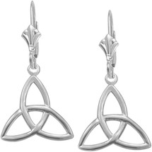 Genuine Sterling Silver Celtic Trinity Knot Earrings