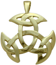 10 Karat Yellow Gold Celtic Galway Knot Pendant