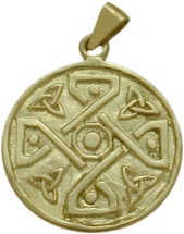 10 Karat Gold Celtic 4 Way Trinity Knot Pendant