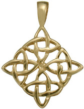 10 Karat Traditional Yellow Gold Celtic Knot Pendant