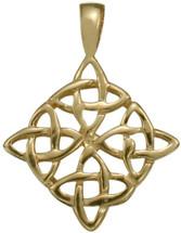 10 Karat Traditional Yellow Gold Celtic Knot Pendant