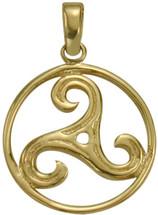 10 Karat Yellow Gold Celtic Triskele Pendant