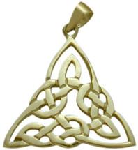 10 Karat Yellow Gold Celtic Traditional Knot Pendant