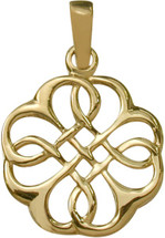 10 Karat Fancy Yellow Gold Celtic Knot Pendant