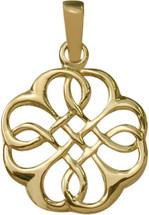 10 Karat Fancy Yellow Gold Celtic Knot Pendant