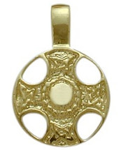 10 Karat Yellow Gold Celtic Shield Pendant