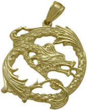 10 Karat Yellow Gold Celtic Dragon Pendant