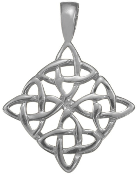 Genuine Sterling Silver Traditional Celtic Knot Pendant