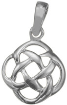 Sterling Silver Traditional Celtic Knot Pendant with chain