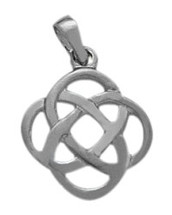 Fancy Celtic Sterling Silver Knot Pendant with chain