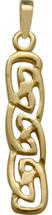 Celtic Style 10 Karat Yellow Gold Pendant