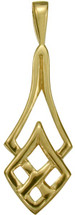10 Karat Celtic Yellow Gold Pendant