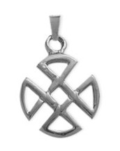 Genuine Sterling Silver Four Trinity Celtic Pendant with chain