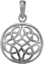 Genuine Sterling Silver Celtic Knot Design Pendant with chain