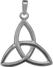 Genuine Sterling Silver Celtic Trinity Knot Pendant with chain