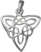 Designer Genuine Sterling Silver Celtic Knot Pendant with chain