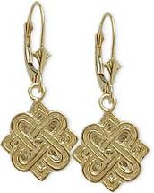 Yellow Gold Celtic Earrings