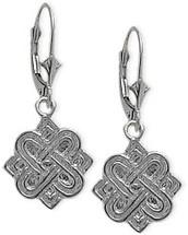 White Gold Celtic Earrings