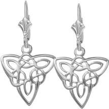 White Gold Celtic Knot Earrings