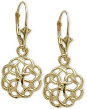 Celtic Knot Yellow Gold Earrings