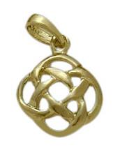 Fancy Yellow Gold Celtic Knot Pendant