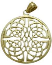 Yellow Gold Fancy Celtic Knot Pendant