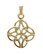 Celtic Yellow Gold Knot Pendant