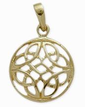 Celtic Knot Yellow Gold Pendant
