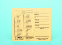 """[T1] MARCHING BAND TOP-OPENING FILING ENVELOPES -- 8.125"""" x 6.75"""""""