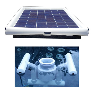Savior Solar Powered Floating Pool Skimmer Cleaner 120 W Capsells