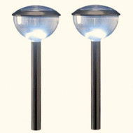 "Set of 4  7""x 20"" 3 ways Solar LED Path Lights"