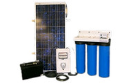 Aqua Sun Villager S8-3 - Solar Powered Stationary Water Purification System