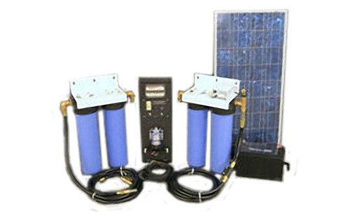Aqua Sun Villager S8-4 - Solar Powered Stationary Water Purification System