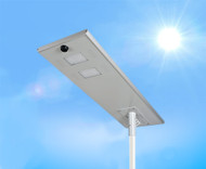 10,000 Lumen Solar Street Light / Parking Lot Light – 80 Watt LED