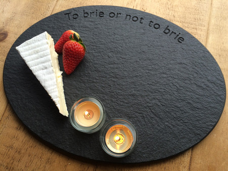 Lakeland slate quirky saying cheese board